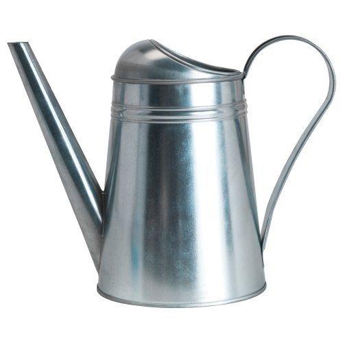 Ikea Socker 701.556.73 Galvanized Steel Watering Can, 9-Inch, 88 oz/2.6 Liter, Silver