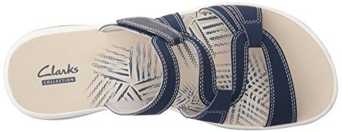 Navy Slide für M Brinkley Clarks 12 Lonna Damen US Sandale PqEI46wY