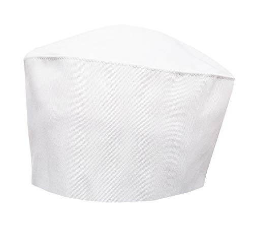 (White Chef Hat - Elastic Back)
