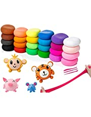 HUIHU Air Dry Clay,Super Light DIY Clay,Magic Modeling Clay with Tools,Soft Modeling Clay That cultivates Children's Creative Ability,Polymer Clay(12/24/36 Colors)