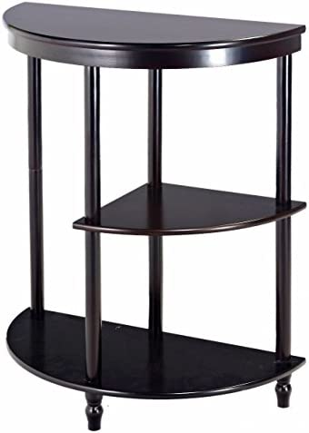 Amazing Buys Cherry 3-Tier Crescent- Half Moon-Hall Console Table End Table in A Cherry Finish