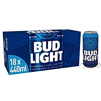 Bud Light Lager Can 18 X 440 Ml