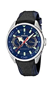 Festina F16572/3 - Reloj analógico de cuarzo para hombre, correa de cuero color negro