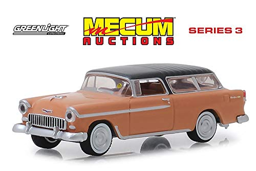 - 1955 Chevy Nomad, Coral - Greenlight 37170A/48 - 1/64 Scale Diecast Model Toy Car