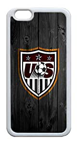 iPhone 6 Cases, iPhone 6 Case - Stylish Design US Soccer Anti-scratch Shockproof TPU White Bumper Case for Apple iPhone 6 4.7 Inch