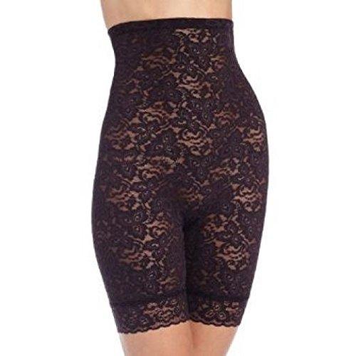 Bali Women's Shapewear Lace 'N Smooth Hi-Waist Thigh Slimmer, Black, ()