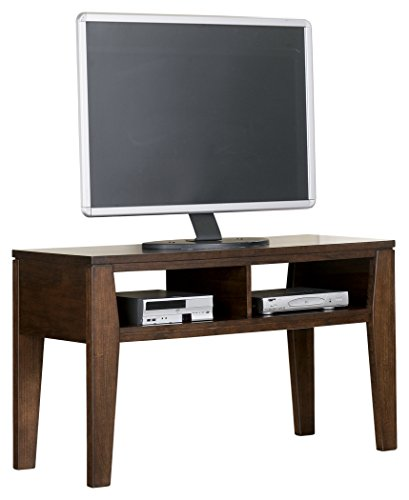 Burnished Oak Tv (Ashley Furniture Signature Design - Deagan TV Stand - 2 Storage Cubbies - Contemporary - Dark Brown)