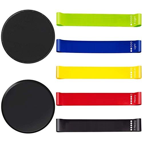 Core Slider Discs Resistance Bands Yoga Sliders Gliding Discs for Exercise Sliding Plates Gliders Exercise Discs Disks Working Out Yoga Bands for Stretching Arm Leg Butt Fitness Gifts for Women ()
