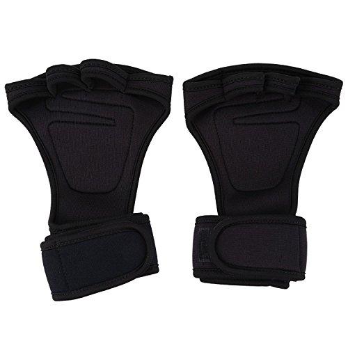 SODIAL Gants de Sports d'Halteres de remise en forme Poignet d'Halterophilie de Gym de Crossfit d'Entrainement Entrainement Sangle Hommes femmes Materiel de plongee + nylon XL