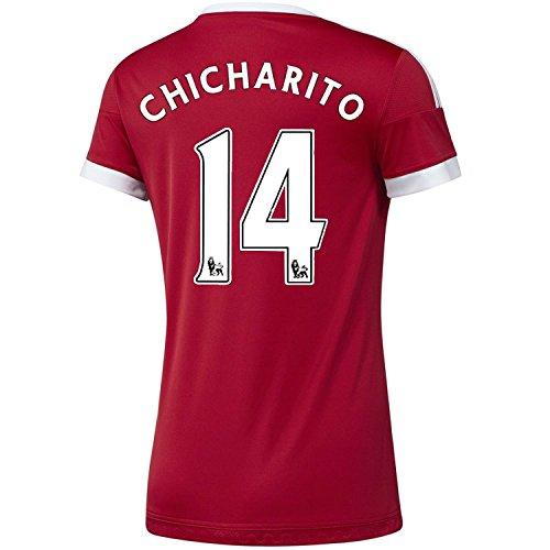 処方判決極小Adidas Chicharito #14 Manchester United Home Soccer Jersey 2015 -WOMEN(Authentic name and number of player)/サッカーユニフォーム マンチェスター ユナイテッド FC ホーム用 チチャリート 背番号14 2015 レディース向け