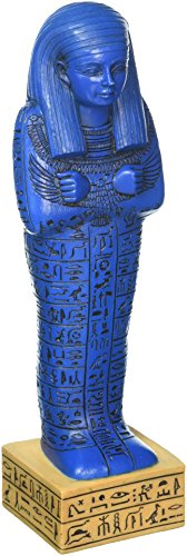 Design Toscano Egyptian Ushabti Grave God Statue, 9 Inch, Blue