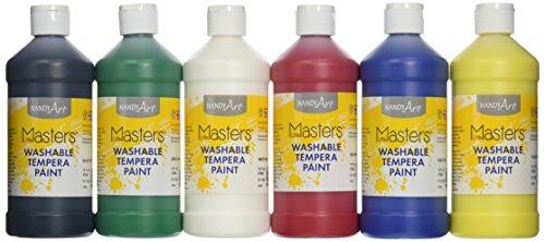 Handy Art Masters Washable Tempera Paints Set, 6-16 oz Photo #2