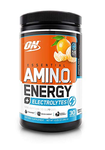 OPTIMUM NUTRITION ESSENTIAL AMINO ENERGY + Electrolytes, Tangerine Wave, Keto Friendly BCAAs, Preworkout and Essential Amino Acids, 30 Servings