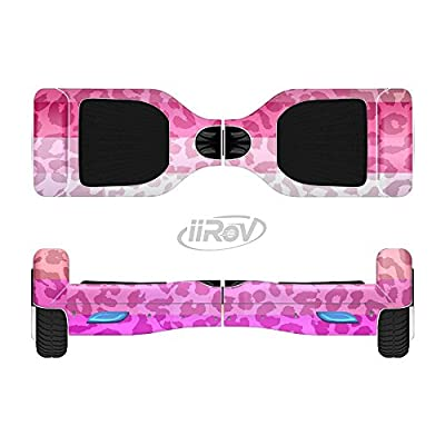 Design Skinz The Hot Pink Striped Cheetah Print Full-Body Wrap Skin Kit for The iiRov HoverBoards and Other Scooter (Hoverboard NOT Included) : Sports & Outdoors