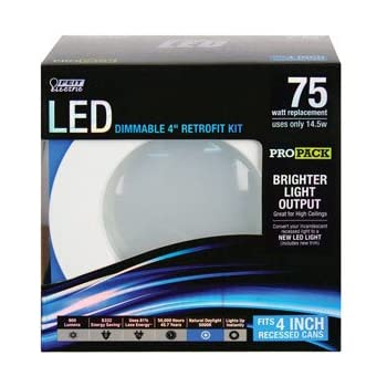Feit Ledr4ho 850 50w Equivalent Daylight 4 Quot Retrofit Kit