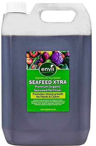 Envii SeaFeed Xtra - Fertilizzante Biologico Liquido A Base Di Alghe Che Stimola La Crescita (5 Litri) Bio8