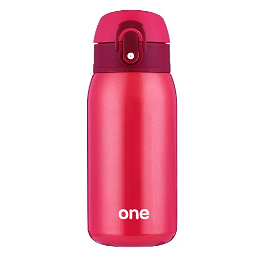 oneisall 320ML/11oz Vacuum Insulated Flask, Stainless Steel Travel Coffee Mug, Child Kids Adult Drinking Water Bottle Thermos Gift (Red) by oneisall