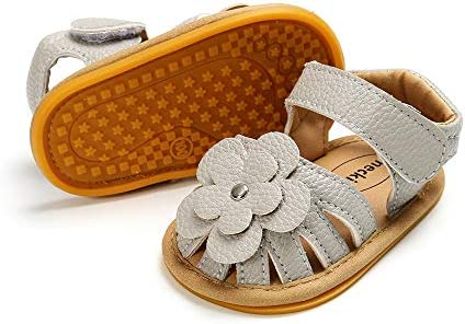 Meckior Baby Toddler Infant Girls PU Leather Soft Closed Toe
