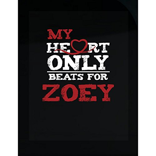 Prints Express My Heart Only Beats for Zoey Cute Valentines Gift - Sticker