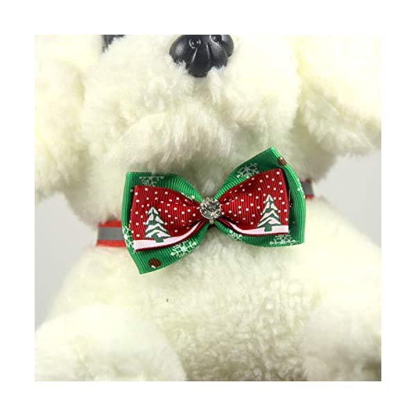 Scrox 1x Navidad Decoracion Mascotas Collar Perro Adornos Arco Perros Accesorios Abrigos Lindo Pajarita Gato Peluche Perro Juguete Mascotas Navidad Ropa Estilo 6