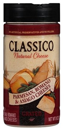 Classico Grated Cheese Parmesan, Romano & Asiago 8 oz (Pack of 3) by Classico (Image #1)