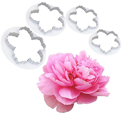 Bihood Peony Flower Cutter Petal Fondant Sugarcraft Cake Cookie Cupcake Maker for Kids Cutter Babycakes Cupcake Maker for Girls Cupcakes Maker Girl Gourmet Cupcake Maker Peony Cutter Set (Flowers Cookie Delivery)