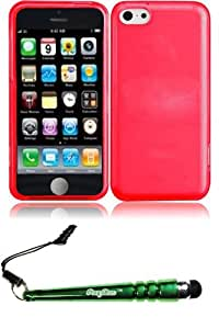 FoxyCase(TM) FREE stylus AND For iPhone Lite Frosted TPU Cover Case - Red cas couverture