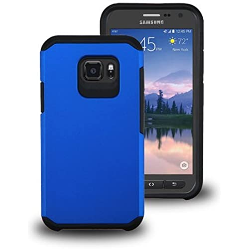 Galaxy S7 Active Case, LUXCA Designed Armor [Shock Absorption] Drop Protection Hybrid Dual Layer Defender Cover for Samsung Galaxy S7 Active (Azure Blue) Sales
