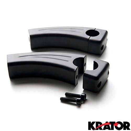"Krator 4.5"" Black Motorcycle Handlebar Pullback Risers For Suzuki Boulevard C109R C50 C90"
