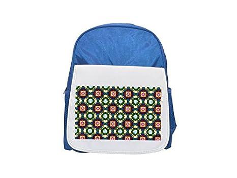 Pattern Element Printed Kid 's Blue Backpack, Cute de mochilas, Cute Small