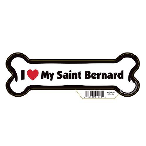 Saint Bernard Dog Bone Magnet