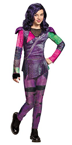 UHC Girl's Mal Isle Of The Lost Disney Descendants Fancy Dress Halloween Costume, S (4-6) (Disney Villain Costume)