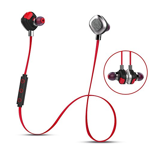 Morul U5PLUS Magnetic Sport Waterproof Bluetooth In-ear Headphones with Mic, Red by mifo