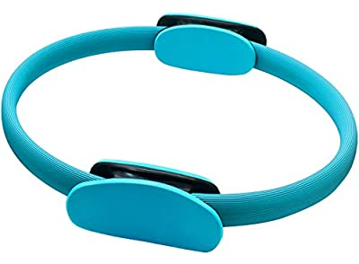 "REEHUT Pilates Resistance Ring - 14"" Power Magic Circle w/Dual Foam Gripped for Full Body Toning, Exercise and Fitness"