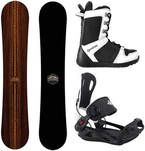 Camp Seven 2020 Roots Snowboard System MTN Rear Entry Step in Style Binding Men s Complete Snowboard Package