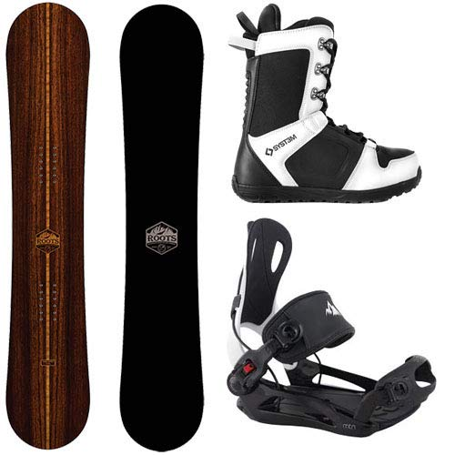 Camp Seven 2021 Roots Snowboard & System MTN Rear Entry Step in Style Binding Men's Complete Snowboard Package