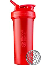 BlenderBottle Classic V2 Shaker Bottle Perfect for Protein Shakes and Pre Workout, 28-Ounce, Red