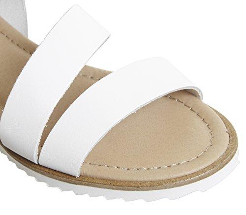 Sandals Strap Saltlake Leather Ankle Office White q4txHTT