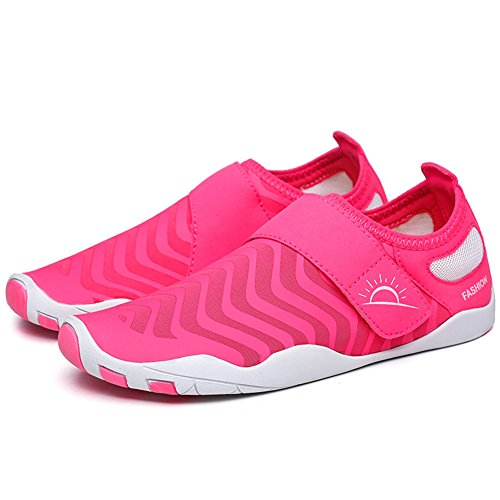 Outdoor L Sports RUN Unisex Rose Breathable Mutifunctional Red Casual Flat Heeled Shoes Wading Mesh rdxIYqfx