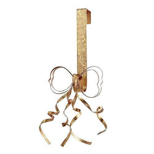 Mud Pie Aluminum Gold Foil Bow Wreath Holder by Mud Pie