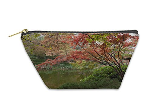 Gear New Accessory Zipper Pouch, Fort Worth Trees In Fall Color By Pond, Large, 5436673GN