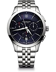 Victorinox Mens Alliance Swiss Quartz Stainless Steel Casual Watch, Color:Silver-Toned (Model: 241746)