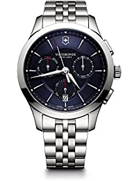 Men's 'Alliance' Swiss Quartz Stainless Steel Casual Watch, Color Silver-Toned (Model: 241746)