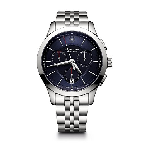 Victorinox Men's Alliance Swiss-Quartz Watch with Stainless-Steel Strap, Silver, 21 (Model: 241746)