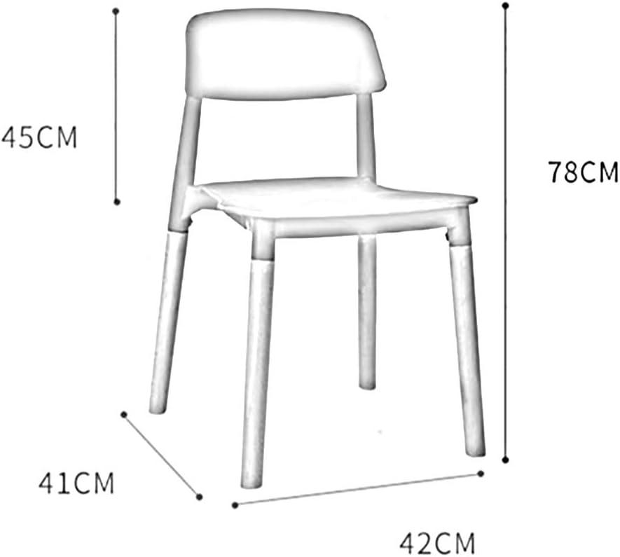 LYHD Chaise de Salle à Manger en Plastique Nordique, Chaise café décontractée, Style Ouvert sans Fauteuil, Design Ergonomique, Salon de Bureau à Manger Cuisine Chambre Gray