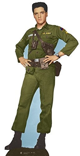 (Elvis Presley Cardboard Cutout Life Size Standup Army Days)