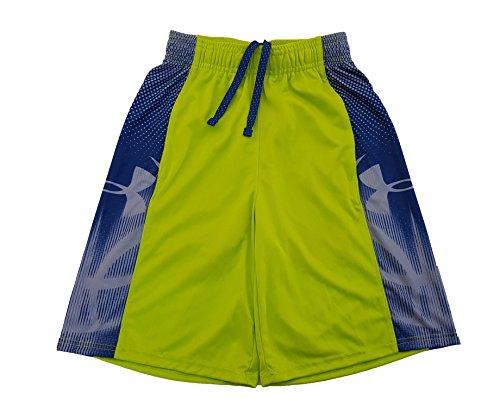 Under Armour Big Boys' UA Jump Over 'Em Basketball Shorts (X-Small, Green/Grey)