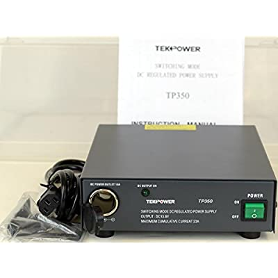 TekPower TP350 23 Amp DC 13.8V Switching Power Supply with Cigarette Plug: Home Improvement