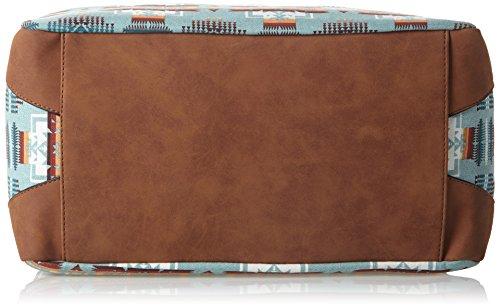 Boscha Damen Bo-106-Ia Schultertasche, Grün (Mint), 20 x 24 x 40 cm