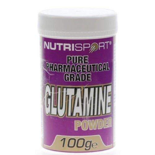 (10 PACK) - Nutrisport - Glutamine Powder | 100g | 10 PACK BUNDLE by Nutrisport - Aspartame Free